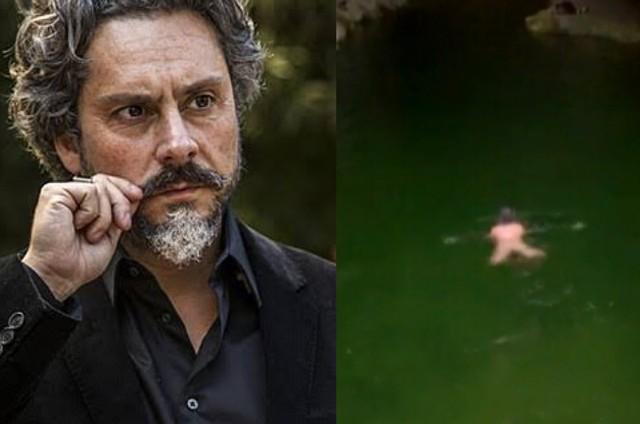Alexandre Nero e a cena nu em 'Império' (Foto: Reprodução)