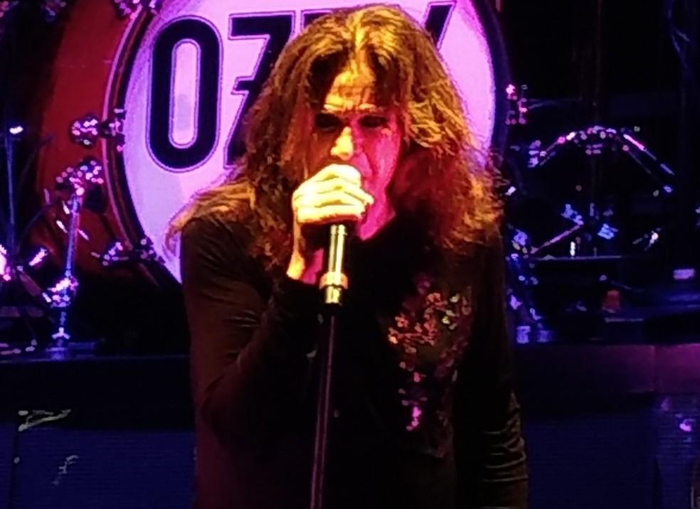 Ozzy Osbourne se apresentou no (13) em São Paulo (Foto: Cesar Soto/G1)