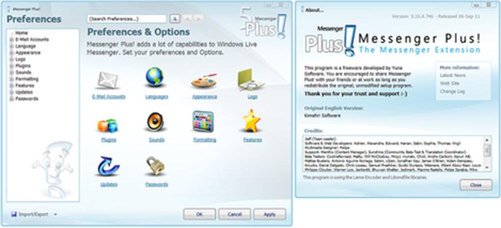O Messenger Plus ajudava a personalizar o MSN Messenger (Foto: Reprodução/Wikipedia)