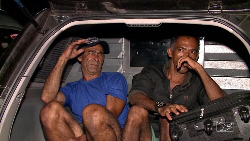 Josenildo Nascimento e Silvio da Paixão Freitas foram presos por suspeitas de serem 'coiotes' (Foto: Reprodução/TV Mirante)