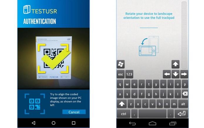 App da Intel permite controlar funções no computador pela tela do Android (Foto: Divulgação/Intel)