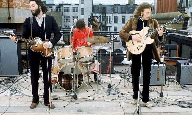 Último show dos Beatles, no telhado da Apple, em Londres, em 30 de janeiro de 1969