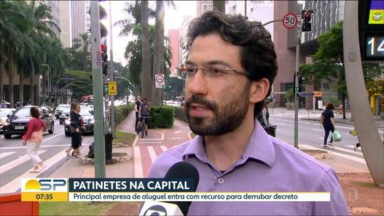 Empresa dona de patinetes elétricos em SP recorre de decisão da Justiça