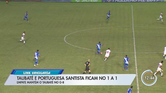 """Com dancinha do """"Nego Ney"""", Erik comemora gol do Taubaté contra Portuguesa Santista"""