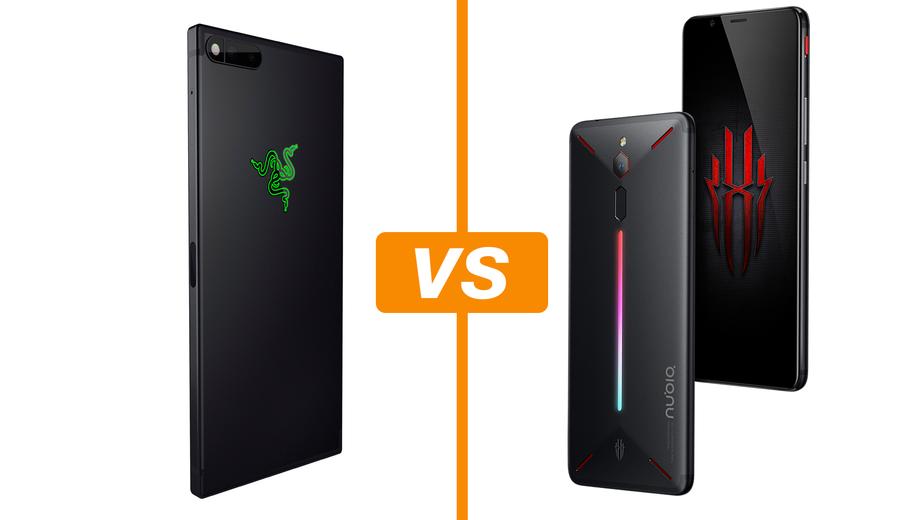 Razer Phone Vs Nubia Red Light Compare Celulares Voltados