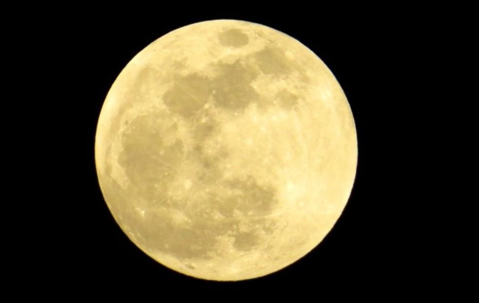 Imagem da lua. — Foto: Ana Clara Marinho/TV Globo