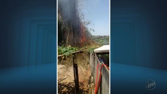 Fogos de artifício causam focos de incêndio em São Tiago, MG