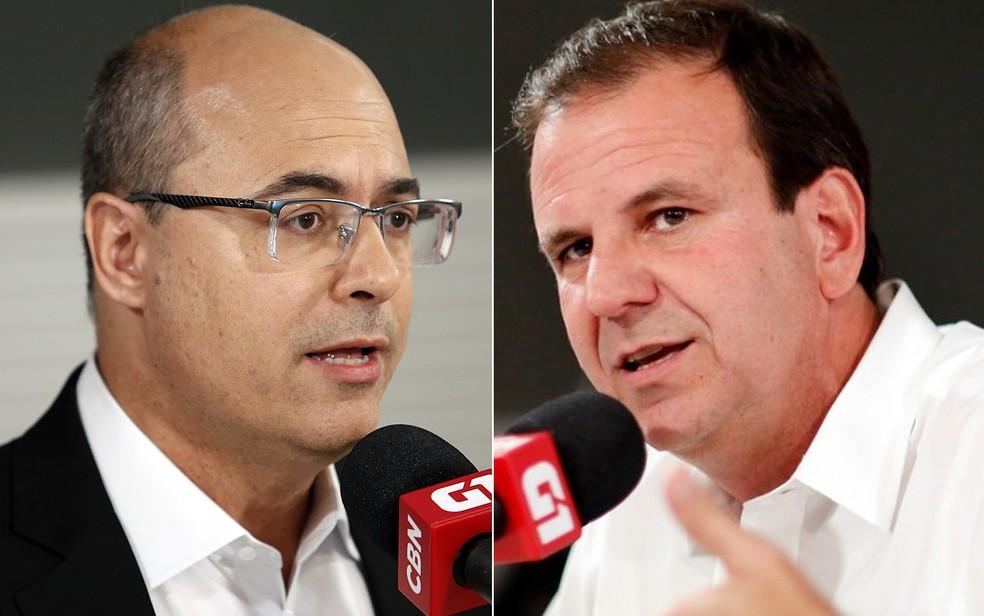 Candidatos ao governo do Rio de Janeiro, Wilson Witzel (PSC) e Eduardo Paes (DEM) vão participar de debate no G1 e na CBN — Foto: Marcos Serra Lima/G1