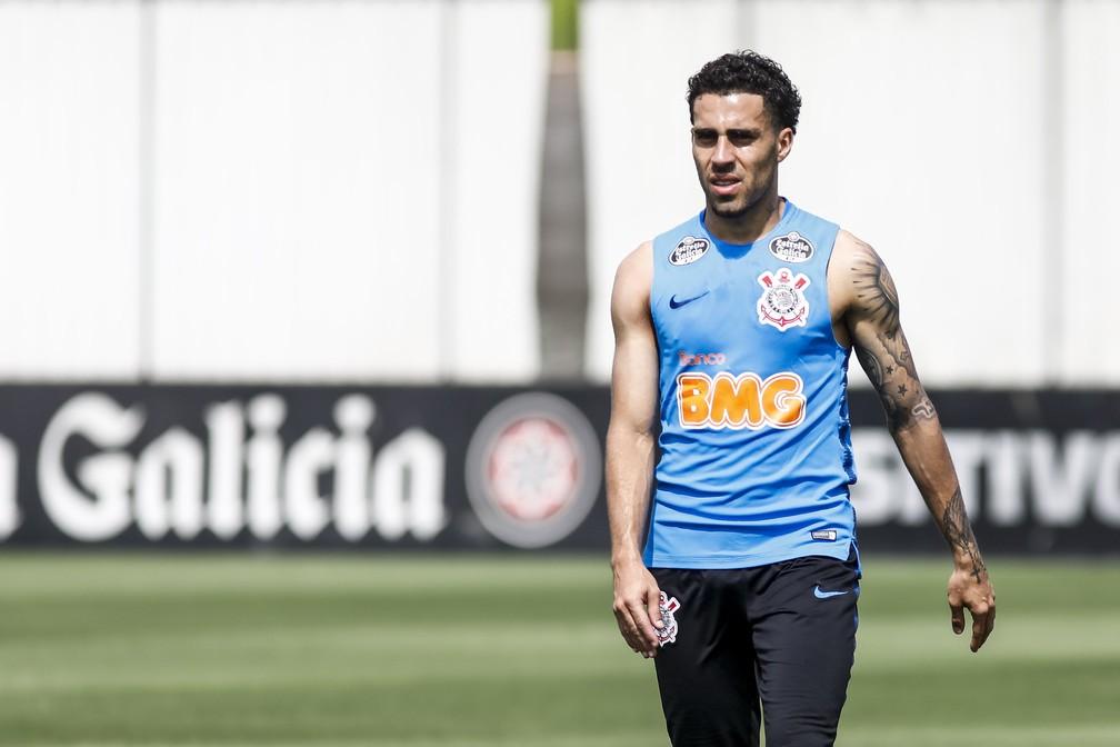 Gabriel em treino do Corinthians no CT no ano passado — Foto: Rodrigo Gazzanel/Ag. Corinthians