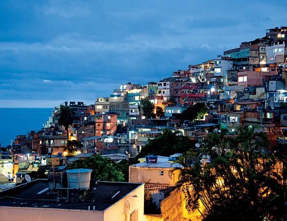 Visão do Vidigal. A mudança para a favela está na gênese do livro de Geovani (Foto: Adriana Lorete)