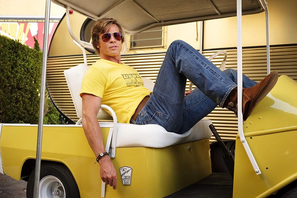 Brad Pitt em cena de 'Era uma vez em Hollywood' — Foto: Divulgação