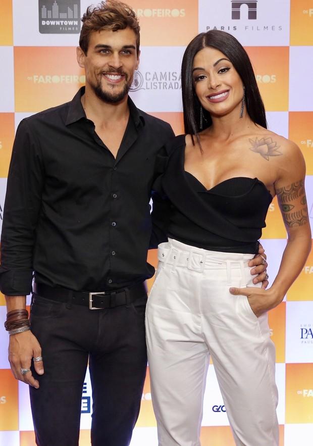 Aline Riscado e Felipe Roque (Foto: Manuela Scarpa/Brazil News)