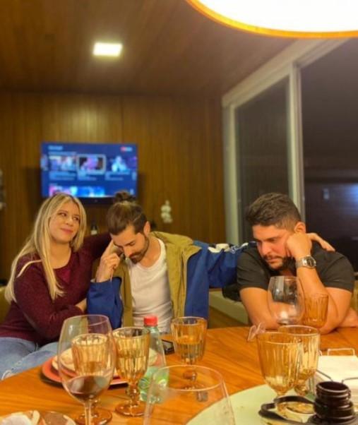 Alok, Marília Mendonça e Jorge da dupla com Matheus (Foto: Reprodução/Instagram)
