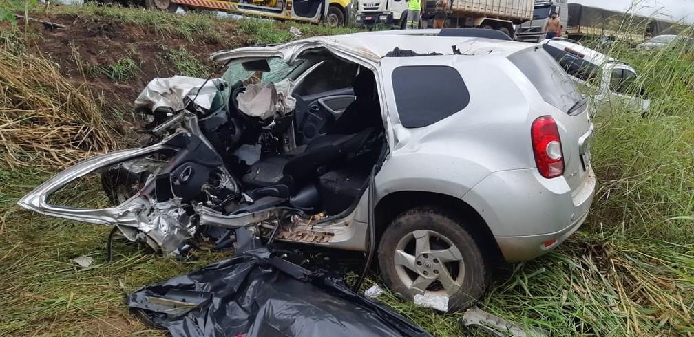 Acidente em Várzea Grande — Foto: Polícia Rodoviária Federal de Mato Grosso/Assessoria