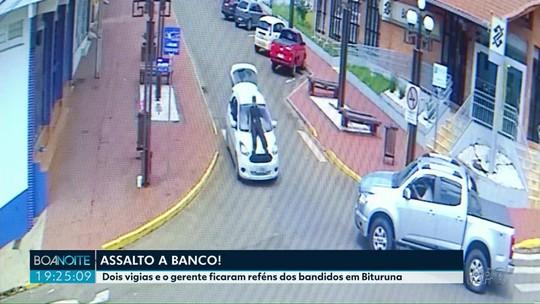 Vigias e gerente de banco são feitos reféns de bandidos em Bituruna