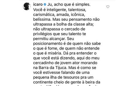 Ícaro Silva também se posicionou Reprodução