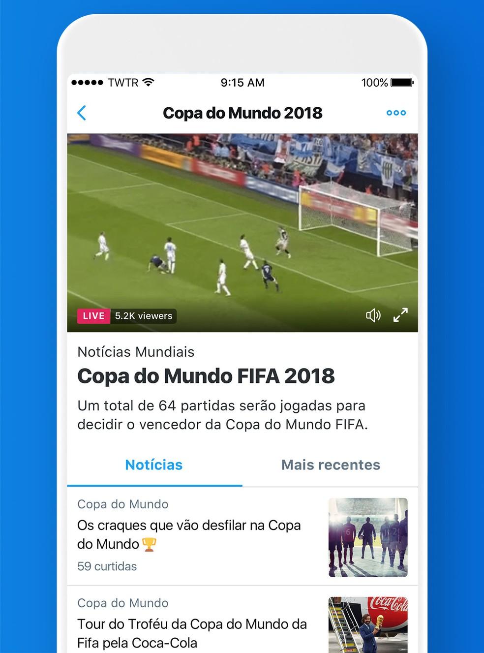 Twitter vai criar páginas especiais para Copa do Mundo 2018 (Foto: Divulgação/Twitter)