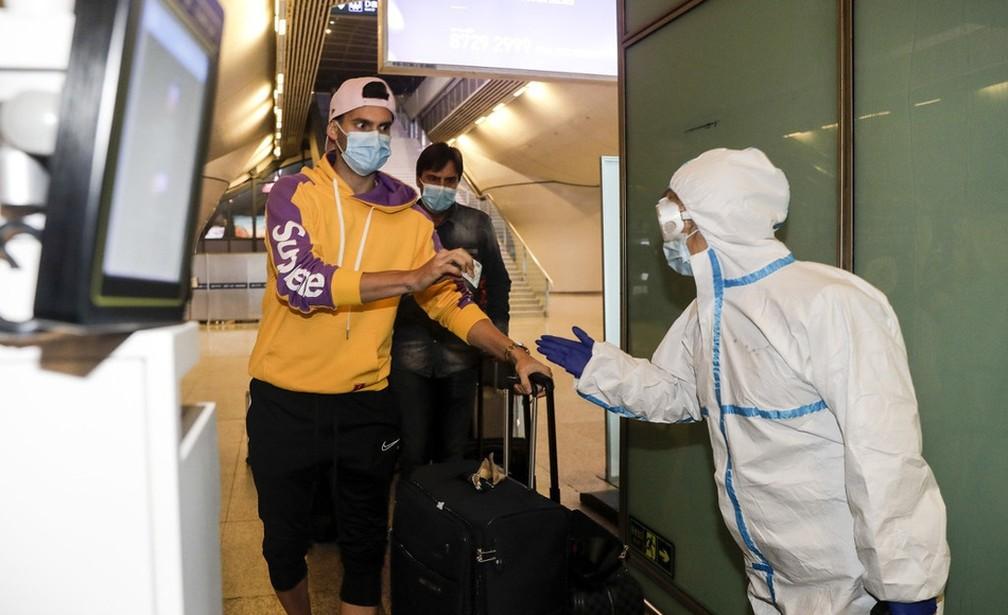 Leo Baptistão está em litígio com o Wuhan, da China — Foto: Reprodução/Sina.com
