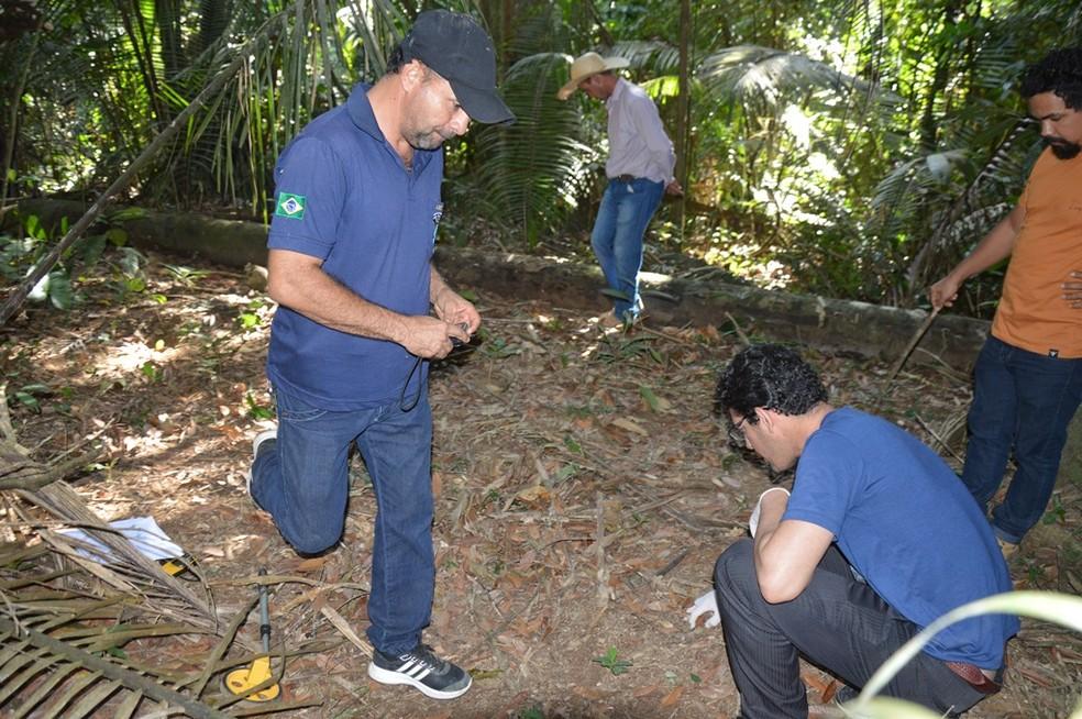 Polícia Civil de RO encontra ossada humana e investiga se pertence a jovem grávida desaparecida há oito meses  (Foto: Edson Nascimento/TBN notícias)