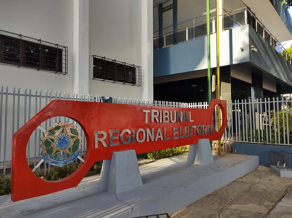 Sede do Tribunal Regional Eleitoral (TRE) do Amapá, no Centro de Macapá — Foto: Fabiana Figueiredo/G1