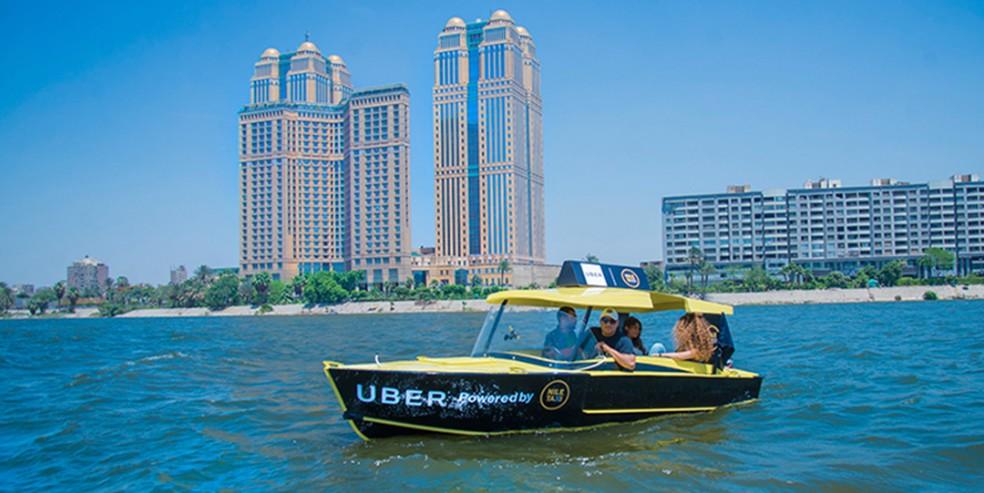 Uber Boat é uma das novas modalidades de transporte — Foto: Divulgação/Uber