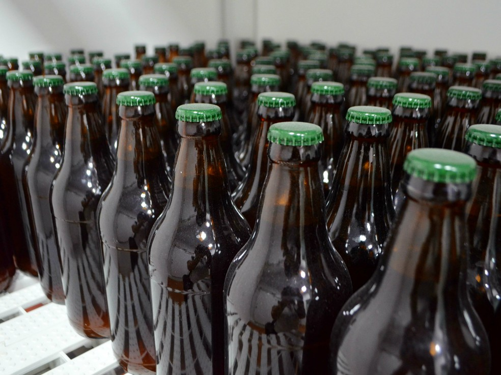 Cervejas artesanais, cervejaria artesanal, trina, marabaixo, neguinha, cerveja, garrafas, (Foto: Fabiana Figueiredo/G1)