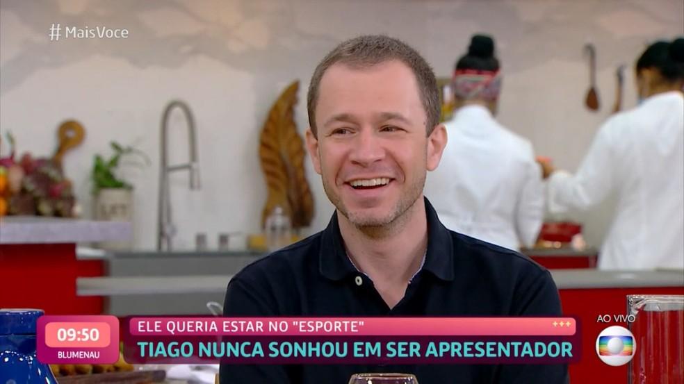 Tiago Leifert contou que nunca sonhou estar na frente das câmeras — Foto: TV Globo