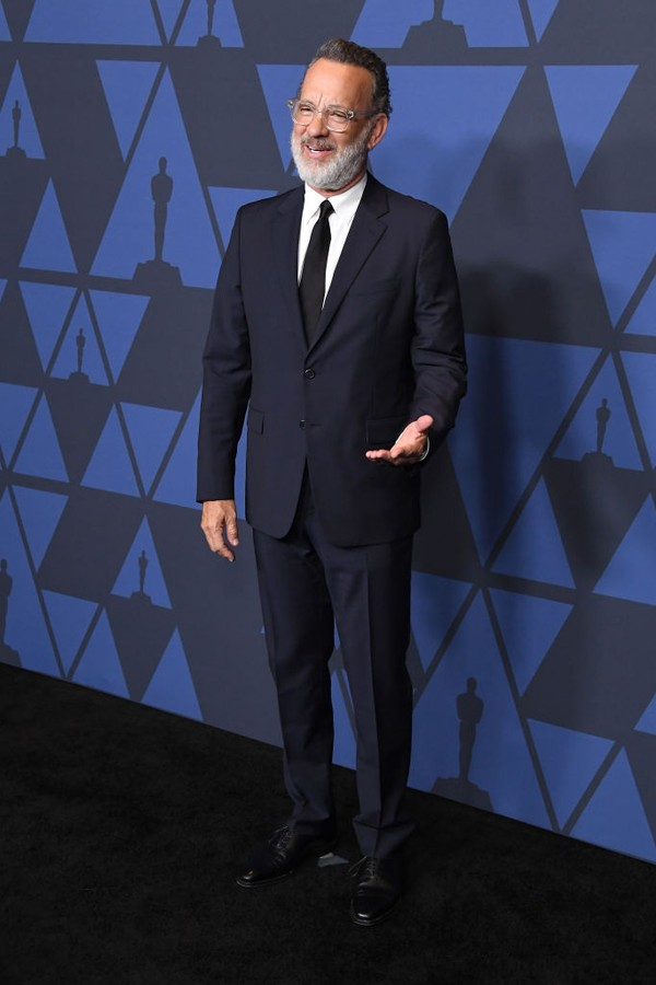 HOLLYWOOD, CALIFORNIA - OCTOBER 27:  Tom Hanks arrives at the Academy Of Motion Picture Arts And Sciences' 11th Annual Governors Awards at The Ray Dolby Ballroom at Hollywood & Highland Center on October 27, 2019 in Hollywood, California. (Photo by Steve  (Foto: WireImage)