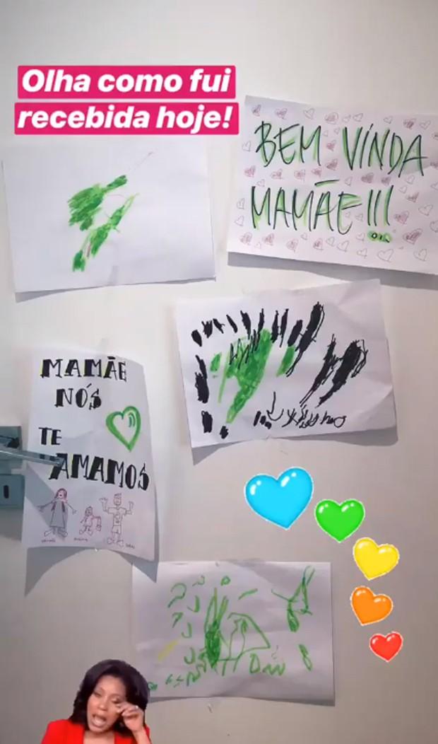 Desenhos de Títi e Bruno Gagliasso (Foto: Reprodução/Instagram)