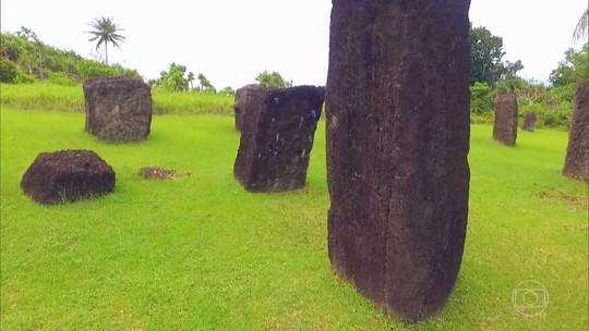 Monólitos em ilha da Micronésia são mistério que fascina