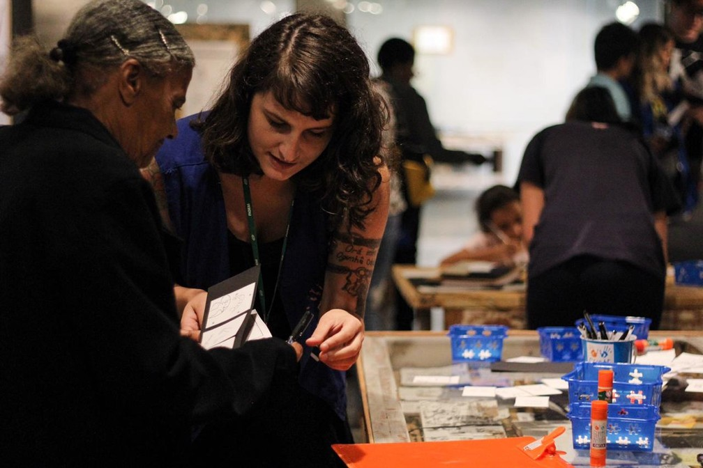 Projeto Educativo Gente Arteira promove acesso à arte para todos os públicos  — Foto: Divulgação/Caixa