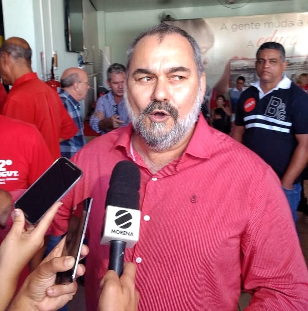 Humberto Amaducci é o candidato do PT ao governo de MS (Foto: João Carlos / TV Morena)