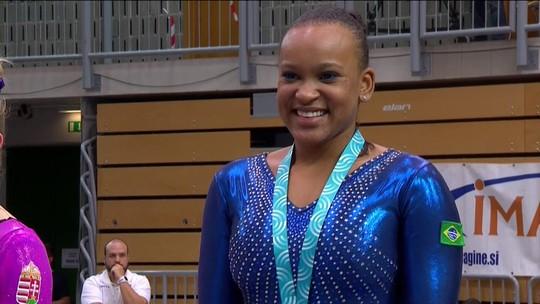 Com ótimas notas, Rebeca é campeã do salto na Copa do Mundo de Koper