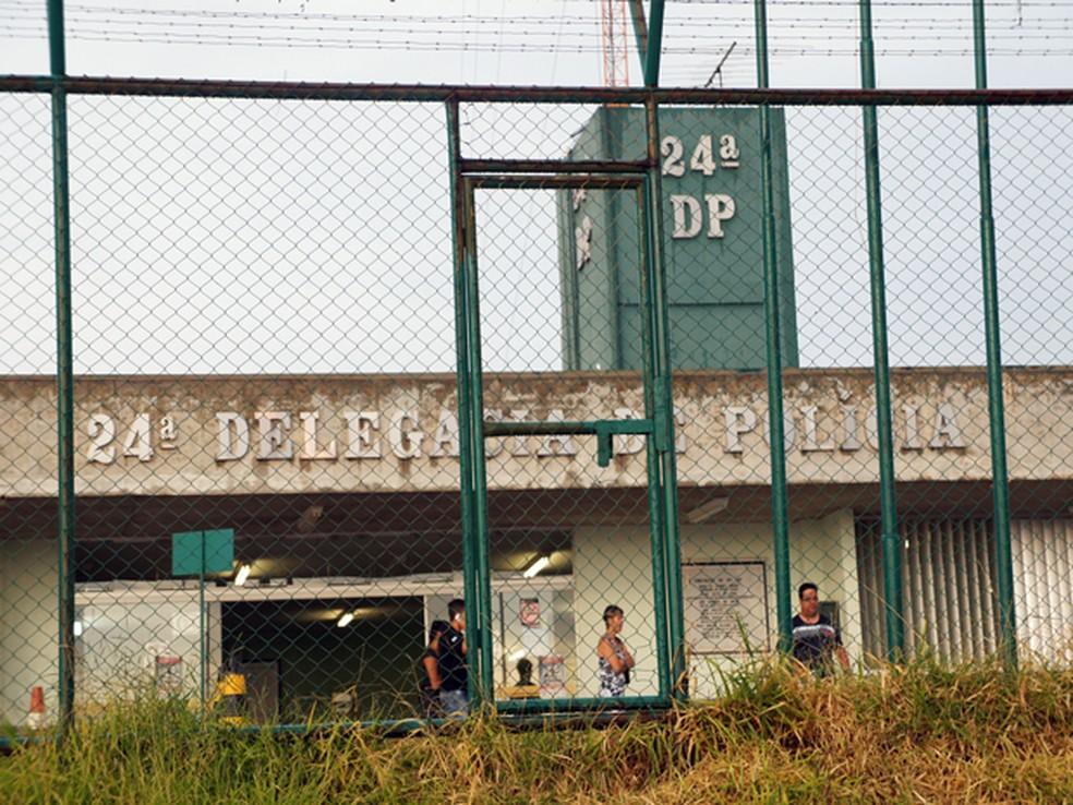 24ª DP em Ceilândia, região com maior número de homicídios no DF, em imagem de arquivo — Foto: Ricardo Moreira/G1