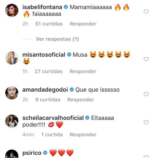 IZA recebe elogios (Foto: Reprodução/Instagram)