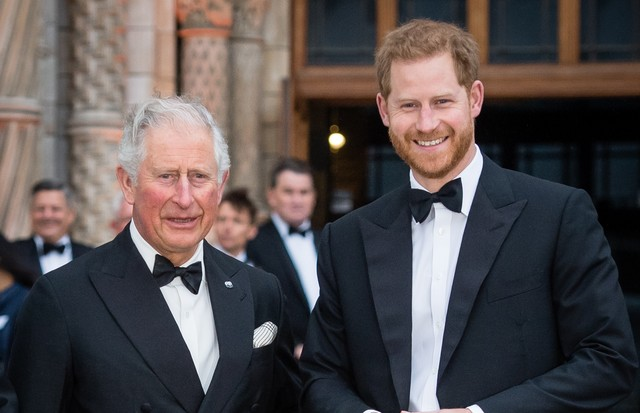 "LONDON, ENGLAND - APRIL 04: Prince Charles, Prince of Wales and Prince Harry, Duke of Sussex attend the ""Our Planet"" global premiere  at Natural History Museum on April 04, 2019 in London, England. (Photo by Samir Hussein/Samir Hussein/WireImage) (Foto: Samir Hussein/WireImage)"