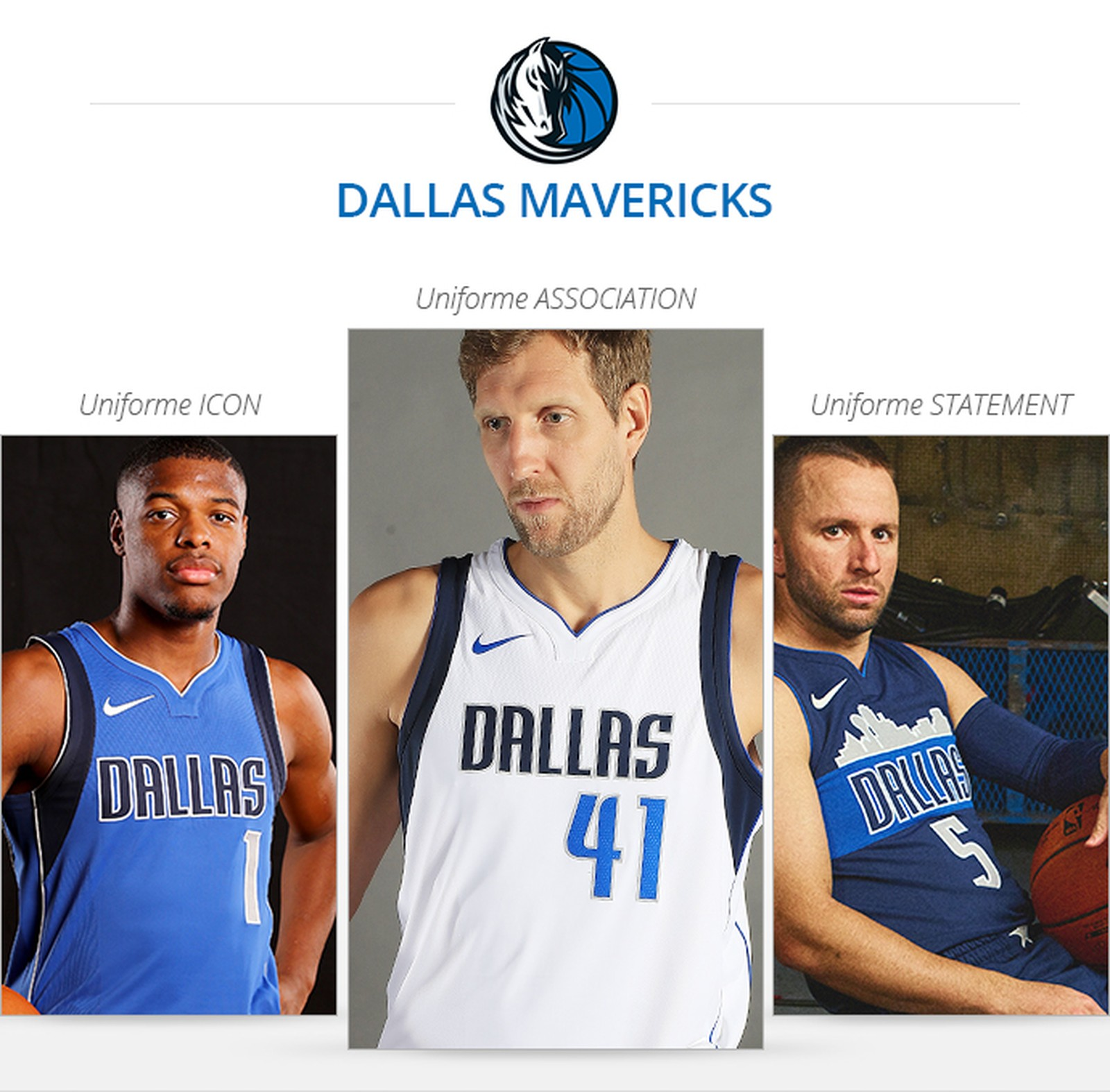 Uniformes Dallas Mavericks saison 2017/18