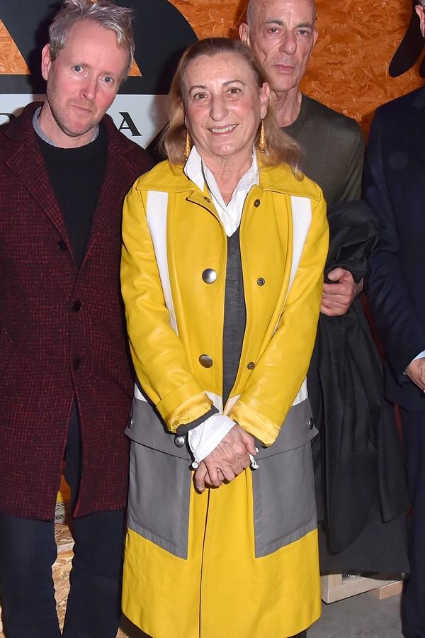 Ronan Bouroullec, Miuccia Prada e Jacques Herzog (Foto: Getty Images)