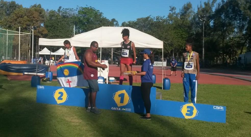 Allana conquistou o ouro no Ceará — Foto: Cremilson Julião Rodrigues / Cedida