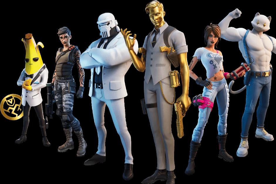 Alguns dos personagens disponíveis na nova temporada de Fortnite (Foto: Divulgação)