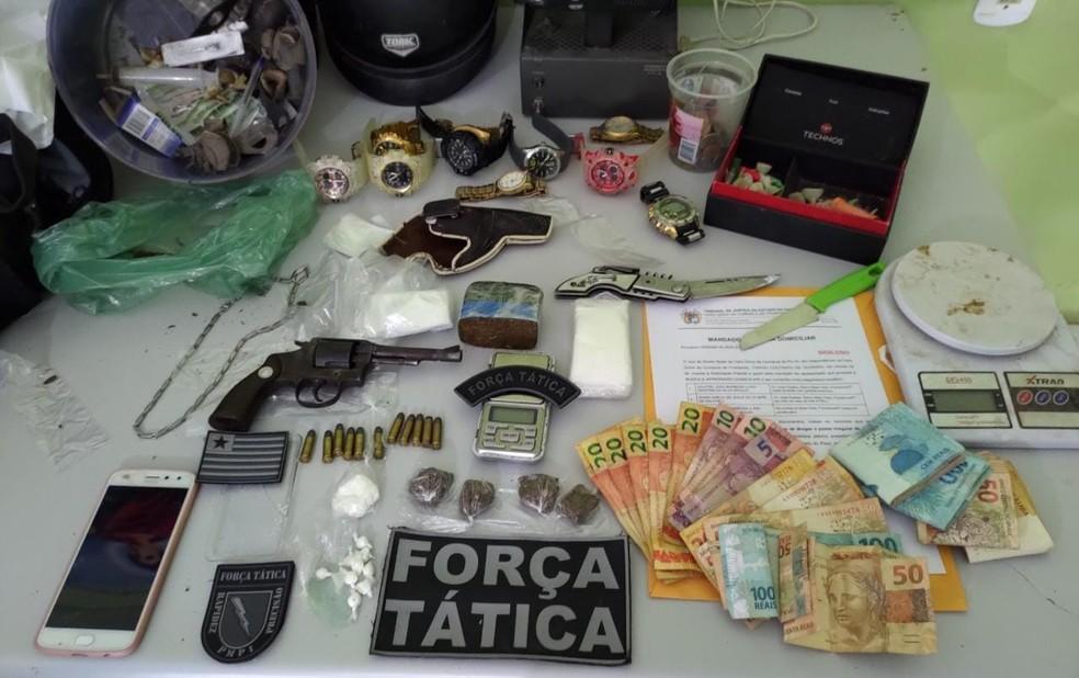 Material apreendido pela Polícia Militar — Foto: Divulgação /PM-PI