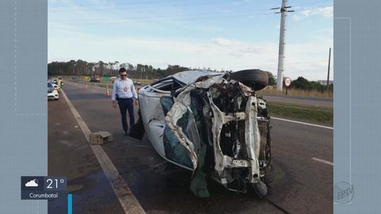Duas mulheres morrem em acidente entre carro e moto na Rodovia SP-340 em Casa Branca
