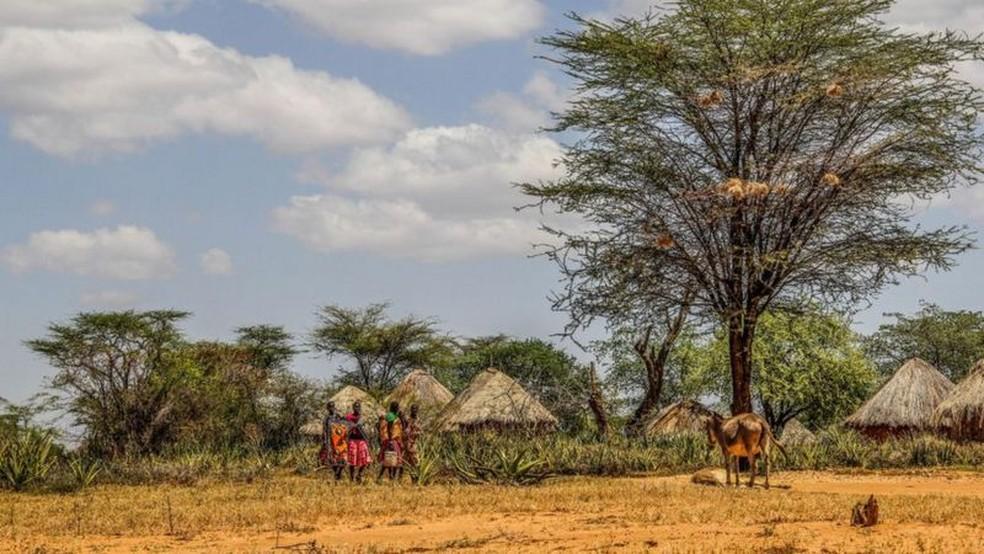 O trabalho de Nakalembe ajudou pessoas na semi-árida Karamajong — Foto: Getty Images via BBC
