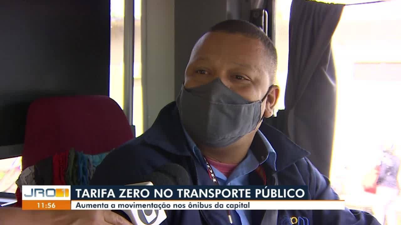 Com a Tarifa Zero, aumenta a movimentação nos ônibus da capital