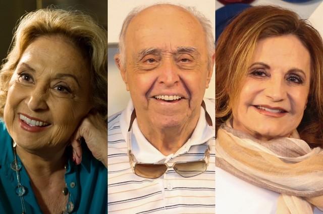 Eva Wilma, Mauro Mendonça e Rosamaria Murtinho (Foto: TV Globo)