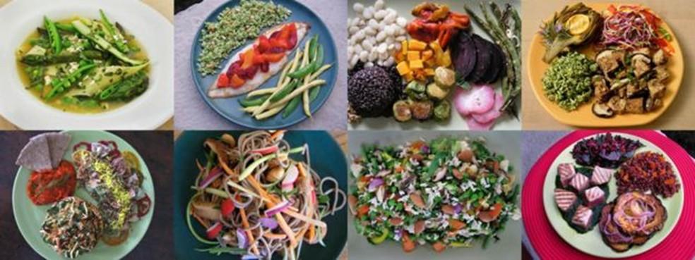 'Você pode pegar esses alimentos e combiná-los de milhares de maneiras diferentes', diz pesquisador — Foto: Molly Katzen/via BBC