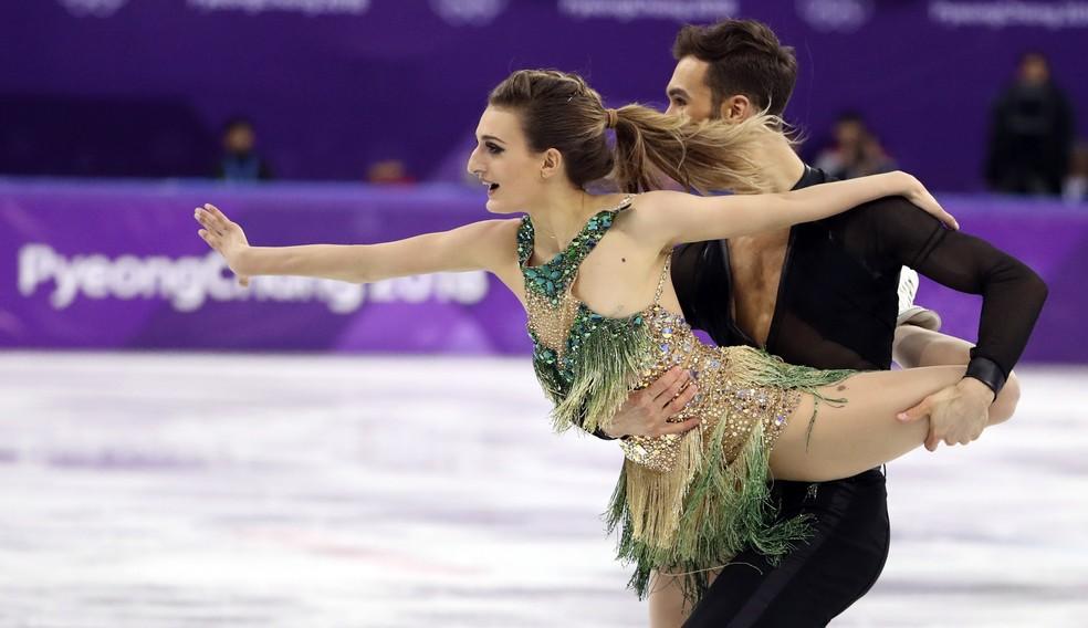 Gabriella Papadakis e Guillaume Cizeron na patinação artística (Foto: Reuters)