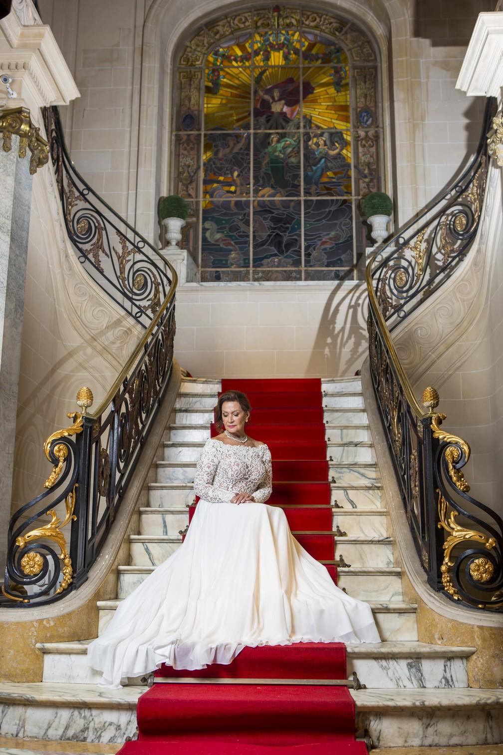 Ieda se veste de noiva em ensaio especial para o Gshow: 'Por que não? Eu me achei linda!' — Foto: Artur Meninea/ Gshow
