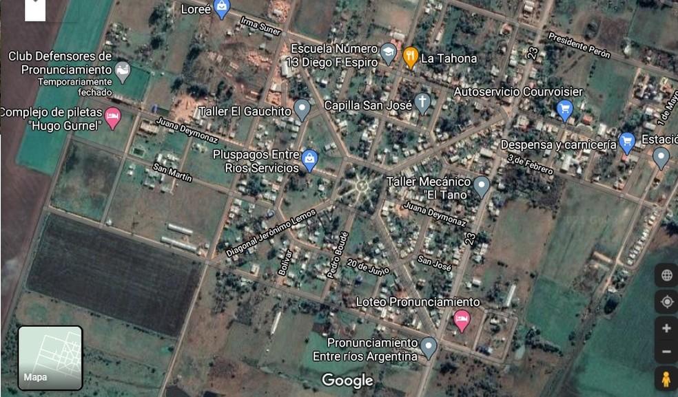 Imagem de satélite de Pronunciamiento — Foto: Reprodução / Google
