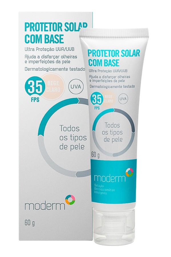 Protetor Solar Base Clara Todos Tipos De Pele, da Moderm (Foto: Divulgação)